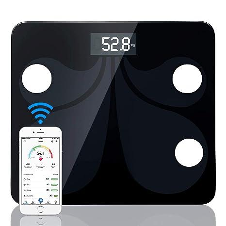 sumuya Báscula de Baño Digital Alta Medición Precisa180 kg/400 lbs, Balanza Digital Baño