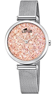 Lotus Watches Reloj Análogo clásico para Mujer de Cuarzo con Correa en Acero Inoxidable 18564/