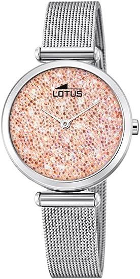 Lotus Watches Reloj Análogo clásico para Mujer de Cuarzo con Correa en Acero Inoxidable 18564/4