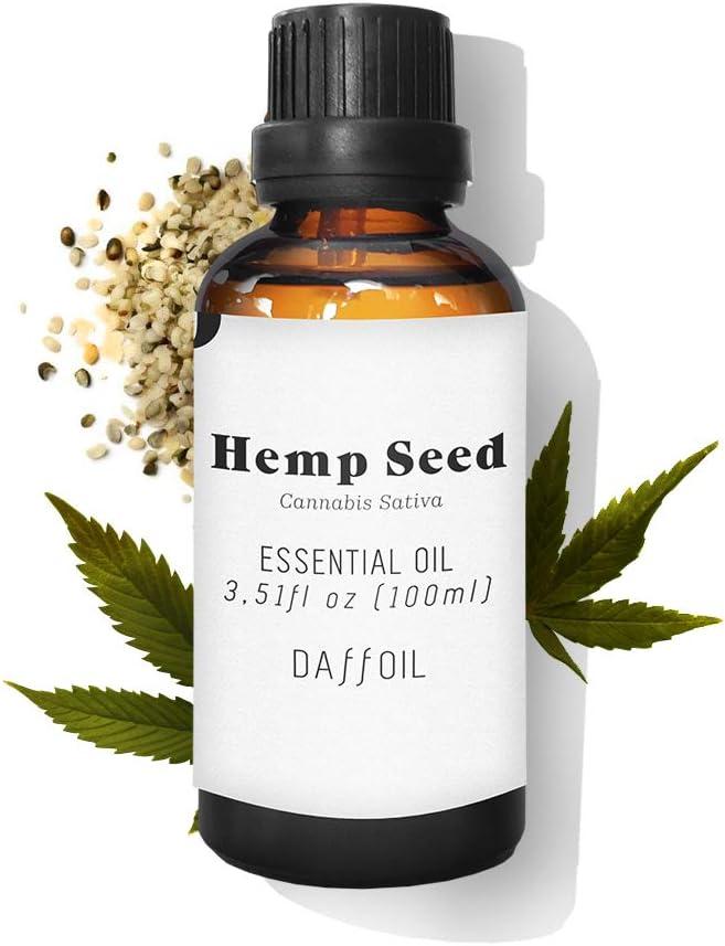 Daffoil Aceite esencial semilla de canamo CBD 100ml puro BIO 100% natural ecologico aromaterapia humidificador