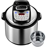 Gtime 6 Qt Pressure Cooker Mode of Dual Nuclei,18 Kinds of Electric Cooking Menu Option,36 Cooking Method Choices,Easy One Touch Controls,18-in-1,with Stainless Steel Inner Pot,Glass Lid