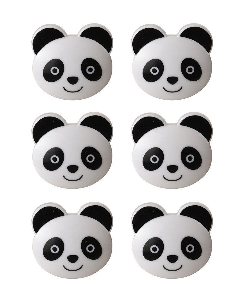 Pusher Set da 6-CHIUDIPACCO PO-Panda Clip,, 6 unità YL01