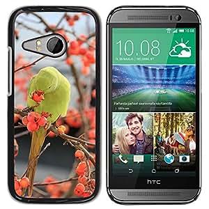 Etui Housse Coque de Protection Cover Rigide pour // M00108738 Los pájaros del Parakeet verde Animales // HTC One Mini 2 / M8 MINI / (Not Fits M8)