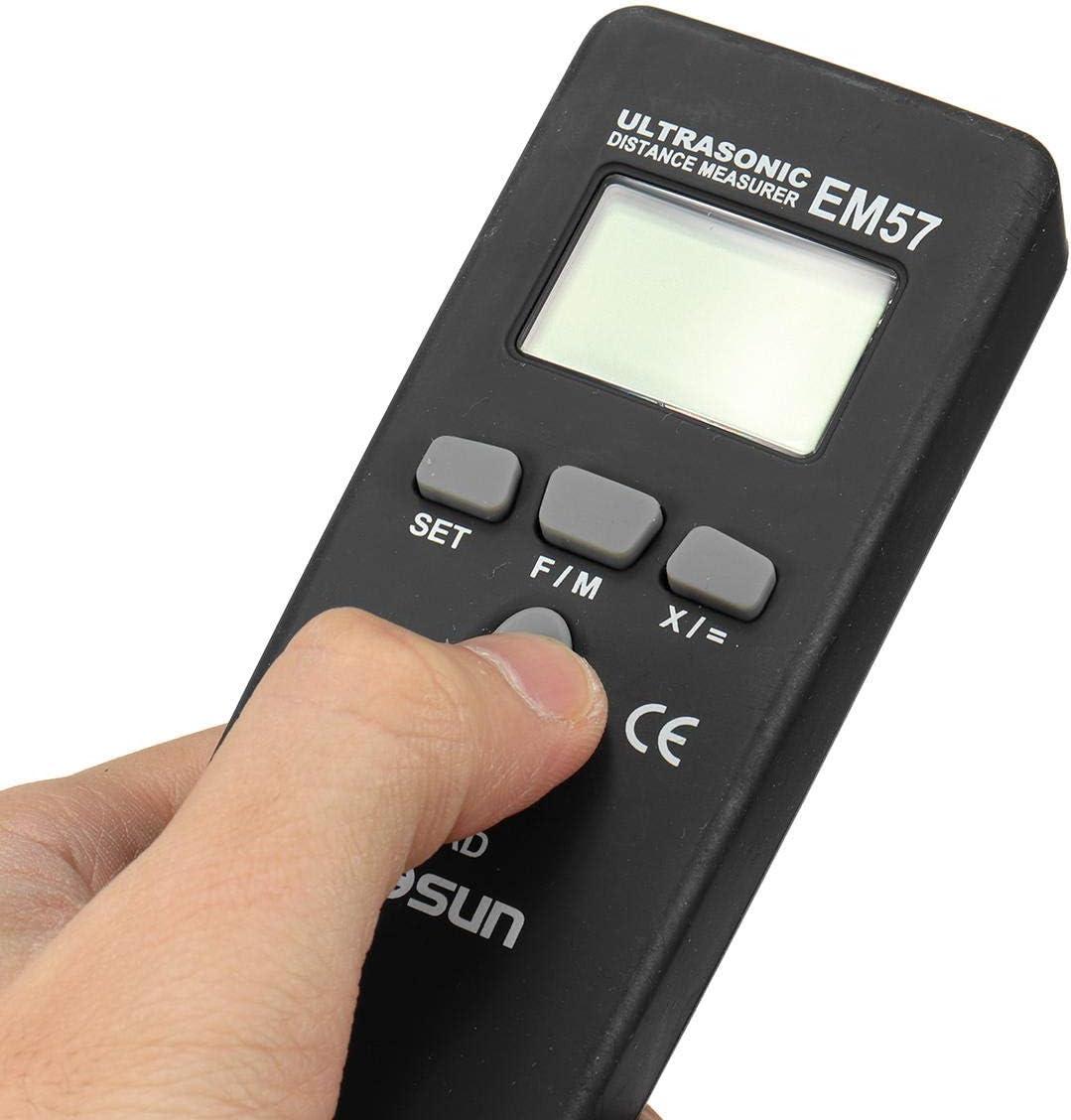 TnSok Telémetros láser Portátil Medidor De La Distancia Télémètre Mini Telémetro Contratista Grado (Color : Black, Size : A)