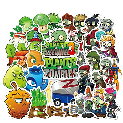 Meet Holiday Plants vs. Zombies Stickers 100 PCS Cute Cartoon Game Comics Vinyl Waterproof Stickers Kids Room Decor Sticker (Plants vs. Zombies) (Plants Vs Zombies All Plants And Zombies)