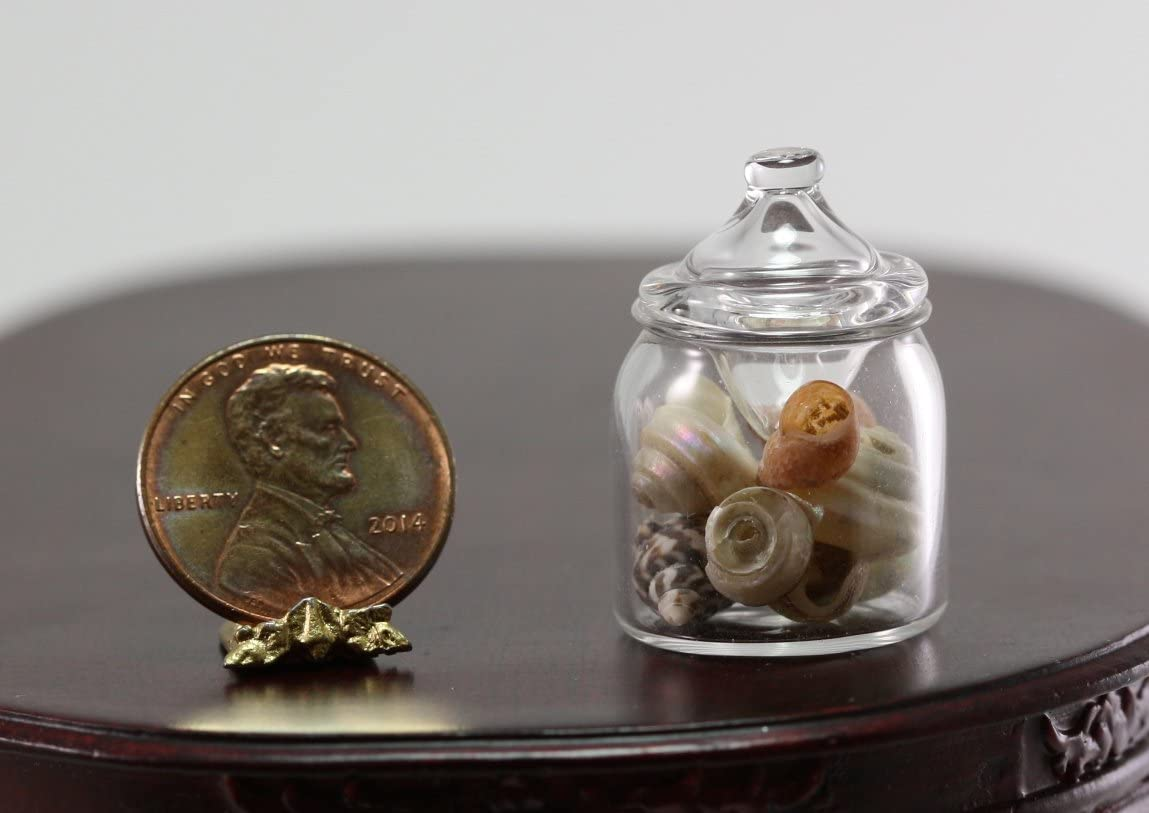 1:12 scale Dollhouse Miniature Tall Glass Jar with Lid