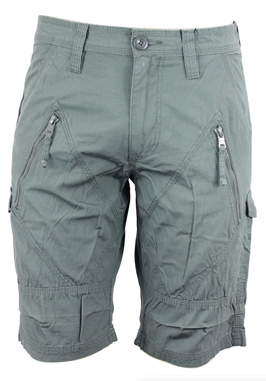 Armani Exchange Aix Utility Zip Short In Army Green, Size 36