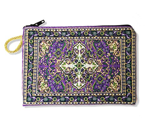Purple Tapestry Cloth Rosary Case Pouch Purse Keepsake Holder, 5 1/2 (Rosary Pouch)