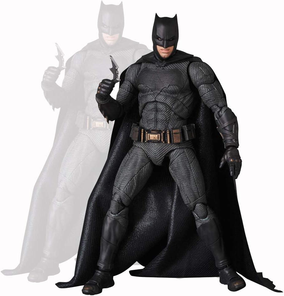 HUANIU Modelo de Personaje de Anime Figura De Acción De Batman PVC Escultura Codo Articulado Carácter De Marionetas Decoración Animada Modelo Juguete del Niño Black-16cm