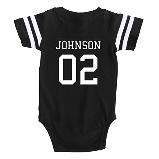 Custom Football Sport Jersey Baby Bodysuit Personalized with Name and  Number (Newborn 77c83995e