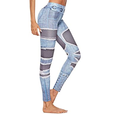 latest fashion more photos modern design Amazon.com: Kaicran Yoga Pants,Womens Color Block Shredded ...