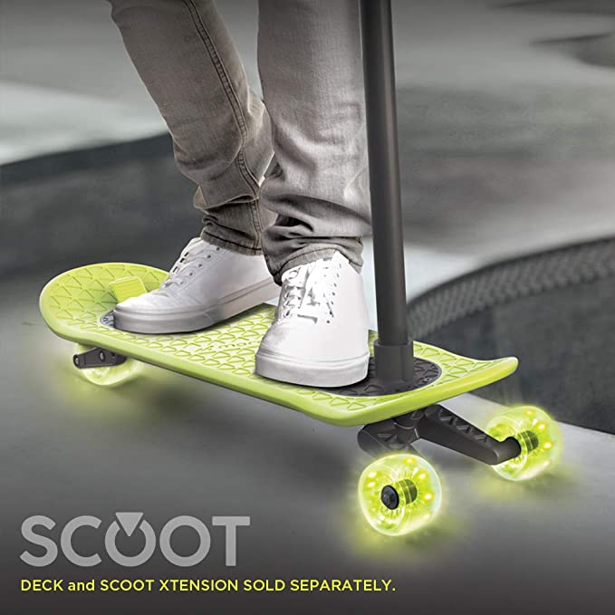 LED Motion Powered Light Up Scoot Wheels for Day or Night Riding MORFBOARD Light-Up Scooter Wheels