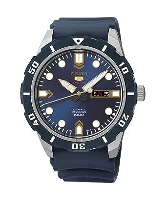 Armbanduhr am arm herren  Seiko Herren-Armbanduhr 5 Analog Automatik Kautschuk SRP677K2 ...
