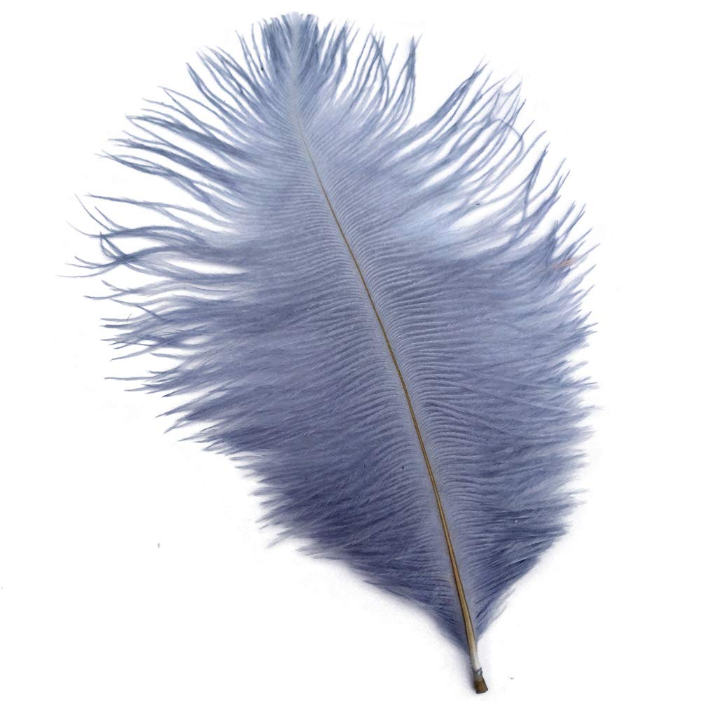 Shekyeon 8-10inch 20-25cm Ostrich Feather Plumes Wedding Centerpiece Table Decoration Pack of 20 (White) Shuoda