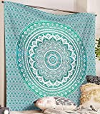 Hippie Ombre Mandala Wall Art Home Decor Bohemian Tapestry Queen Size Ethnic Bedding - Best Reviews Guide