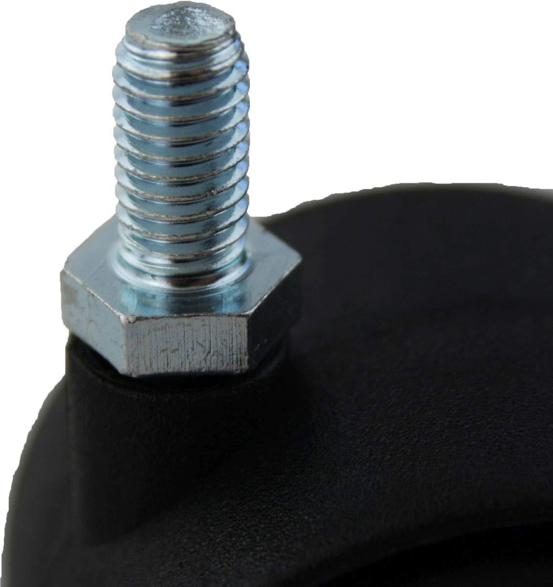 Lot de 4 roulettes de transport pour meubles /Ø 40 mm avec goupille filet/ée et frein