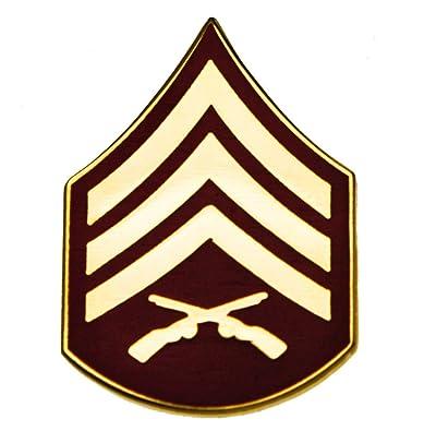 Amazon.com: US Marines Sergeant E5 Rank pin HON14389: Jewelry