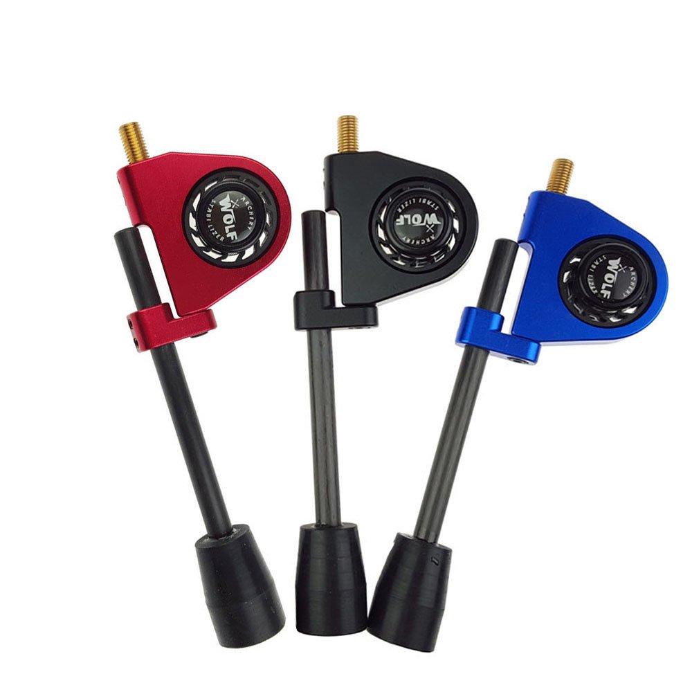 SHARROW Tiro con larco Stabilizzatore di Stringa Arc Corda Stabilizzatore di Corde darco String Stop blu