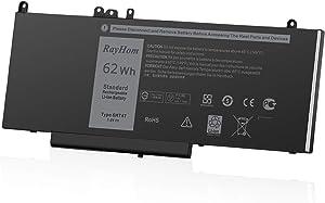RayHom Replacement 6MT4T Laptop Battery - for Dell Latitude E5470 E5570 Precision 3510 Series Notebook 0HK6DV 7V69Y 07V69Y 79VRK 079VRK TXF9M 0TXF9M 0C1P4 451-BBUN 451-BBTW 7.6V 62Wh 4 Cell