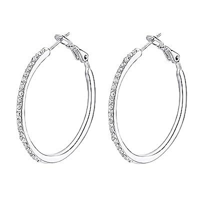 925 Sterling Silver Plated Hoop Earrings Fashion Jewelry Earrings For Women 01