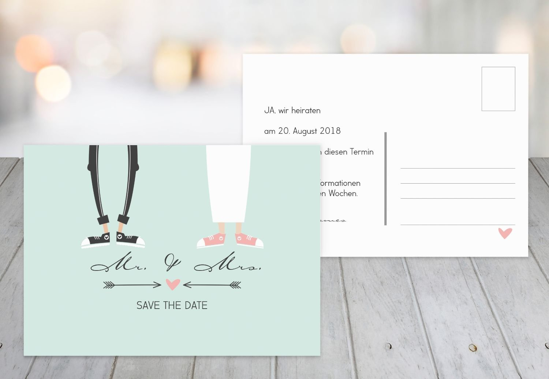 Save-the-Date Pärchen, 30 Karten, Weiß Weiß Weiß B07B6M11Z3 | Realistisch  | Online-verkauf  | Mittel Preis  78f023