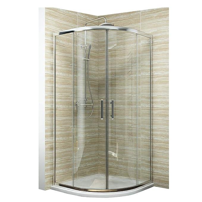 Cabina de ducha viertelkreis redondas ducha Mampara: Amazon.es ...