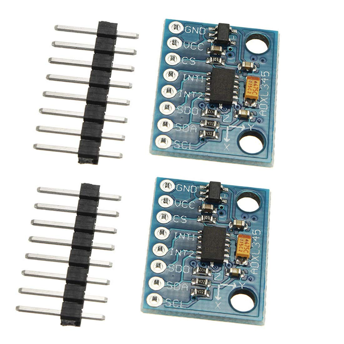 2pcs ADXL345 3-Axis Digital Acceleration of Gravity Tilt Module GY-291 IIC//SPI Transmission for Arduino