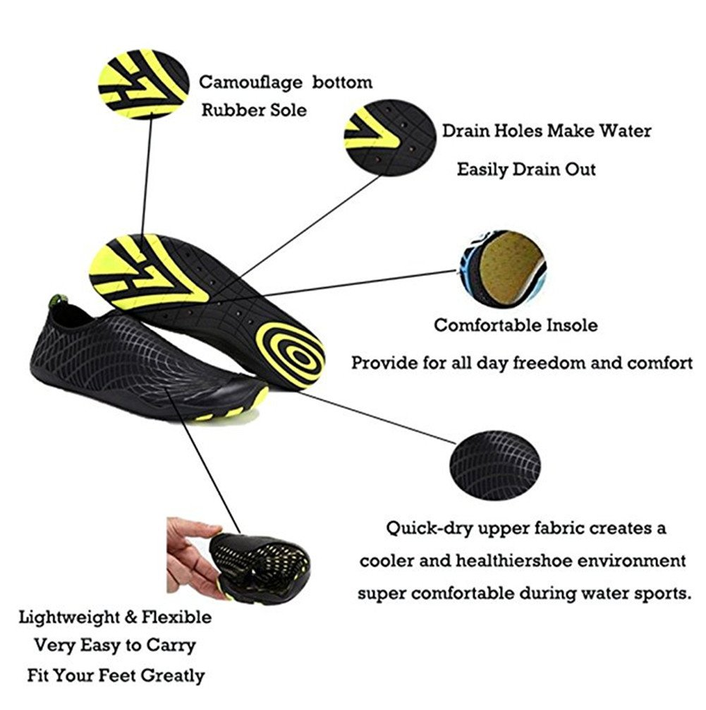 AOBRITON AOBRITON AOBRITON Water Shoes Quick Dry Sports Aqua Shoes Unisex Swim Boots for Swim,Yoga,Beach,Driving,Boating B07DHMMMMJ Motorcycle & Combat f165d0