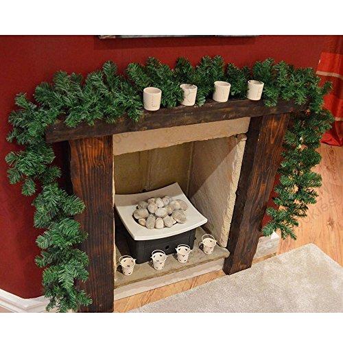 cherry Juilt 9 Feet 2 Pcs Christmas Garland Decorations Outdoor Indoor Artificial Pine Wreath Xmas Decorations for Wall Door Stairs by cherry Juilt (Image #3)