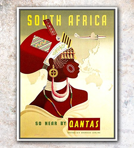 South Africa Travel Poster Vintage Art Retro Print