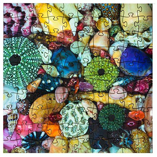 Mosaic Puzzles Wooden Jigsaw Puzzle - Ocean Treasure - 104 Unique Pieces Challenge Any Puzzle Lover from Ages 8 to 98 - Made in The USA by Zen Art & Design