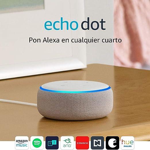 Echo Dot (3ra generación) - Bocina inteligente con Alexa, gris claro