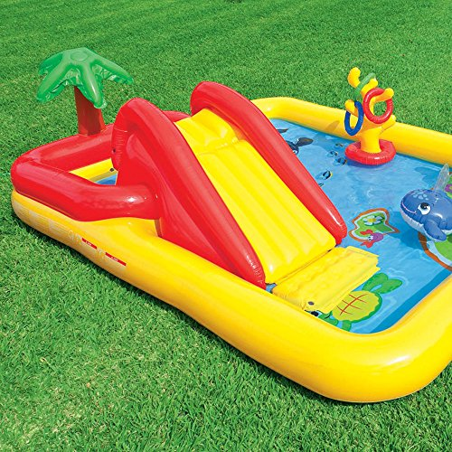 Intex Ocean Play Center Kids Inflatable Wading Pool + Quick Fill Air Pump by Intex (Image #5)