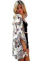 Cami-sunny Women Chiffon Printed Cardigan Kimono Robe Tops Beach Cover up Blouse