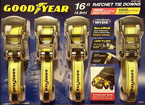 Goodyear Ratchet Tie Down - 4 pk.