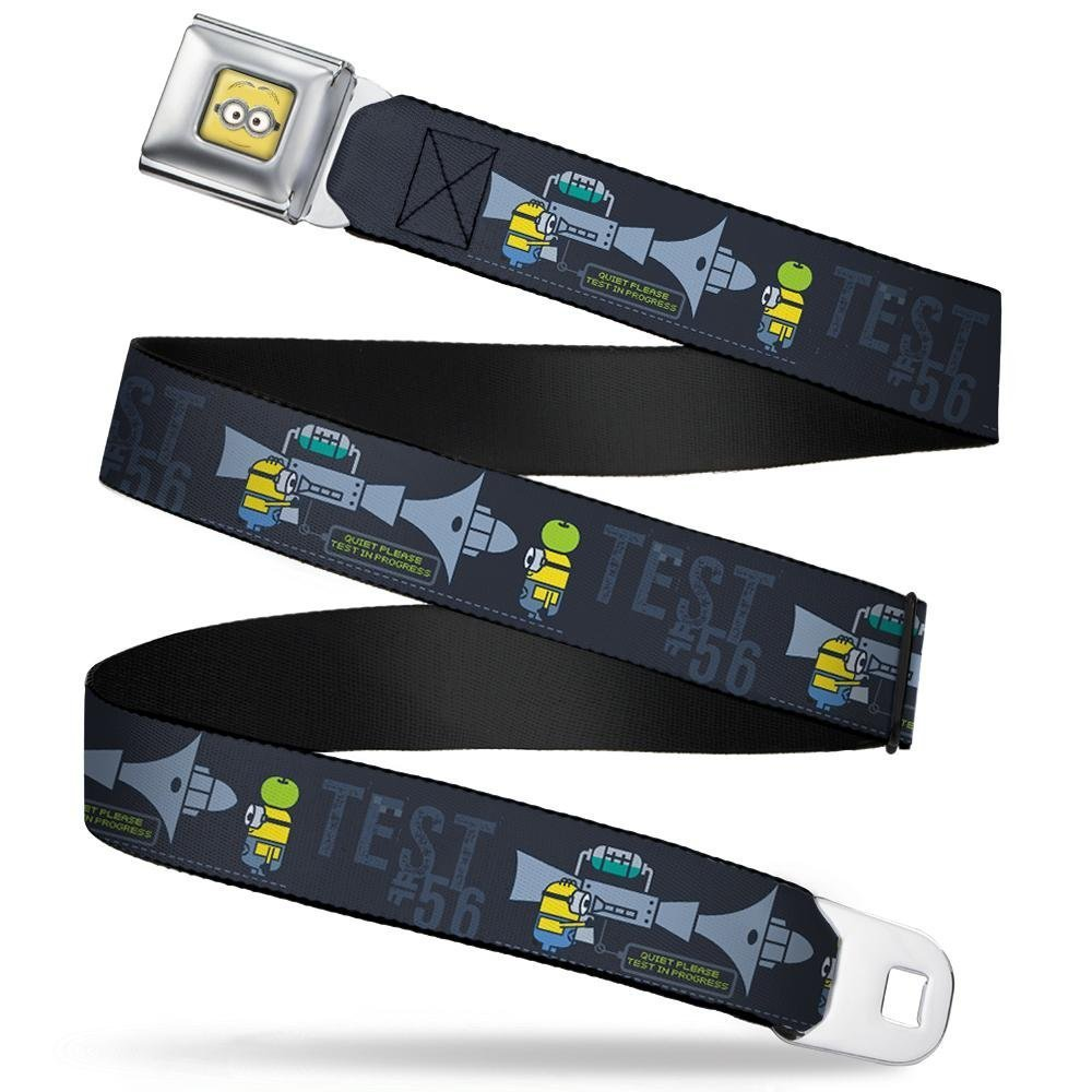 1.0 Wide 20-36 Inches in Length Buckle-Down Seatbelt Belt Despicable Me Minion Testing TEST #56 Blues