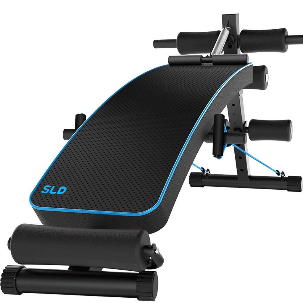 DLT AB Bench Incline Decline, schwarz blau Utility Weight Bench Crunch Board für Toning und Krafttraining, Verstellbare Übung Bank zu Hause Gym