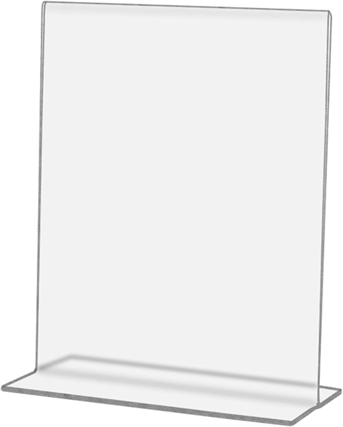 Marketing Holders Literature Flyer Poster Frame Letter Notice Menu Pricing Deli Table Tent Countertop Expo Event Sign Holder Display Stand Double Sided Bottom Loading 5w x 3h Pack of 24