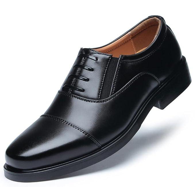 Vestido Zapatos Negocios Puntiagudos Zapatos Militares Zapatos Militares Hombres,Black-38