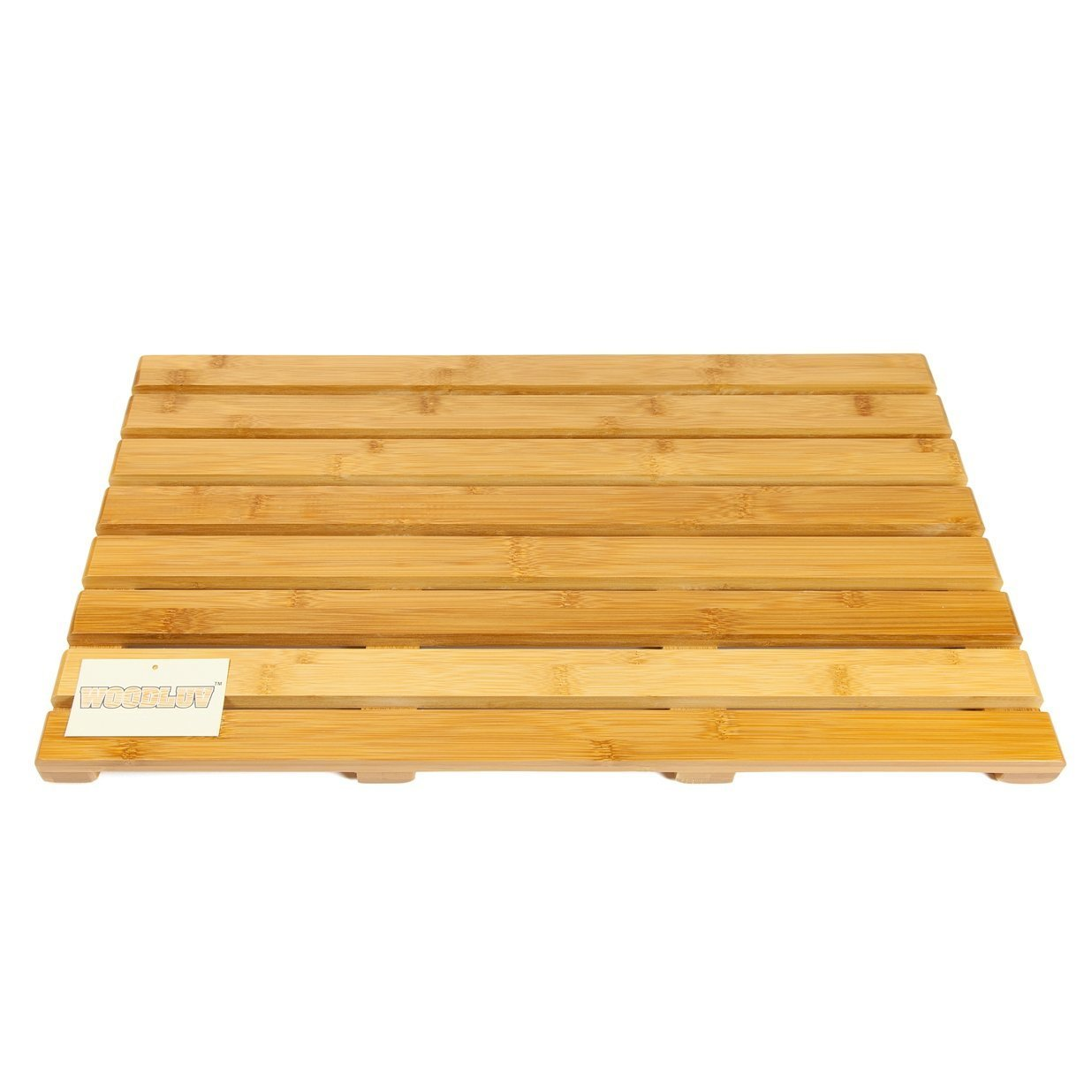 Woodluv bamb/ù Deluxe Pedana Rettangolare Tappetino da Bagno Grande