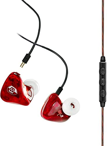 BASN in Ear Monitor Headphones for Musicians Dual Driver 2 Pin Detachable Cable Earphone