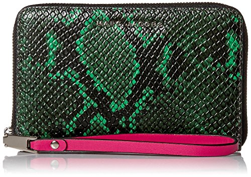- Marc Jacobs Block Letter Snake Zip Phone Wristlet, Green Snake Multi, One Size
