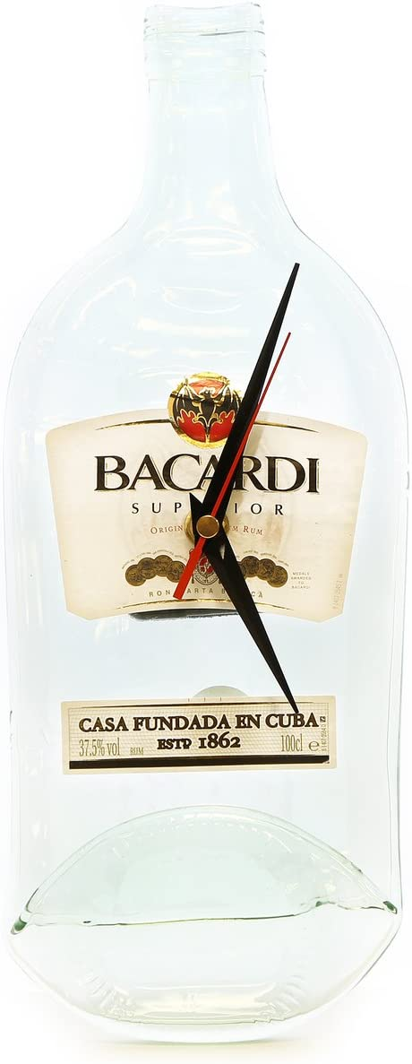 Botella de Ron bacardí Real reloj de pared: Amazon.es: Hogar