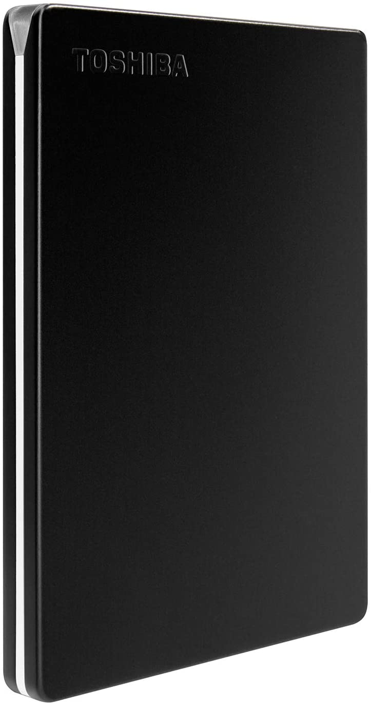 Toshiba Canvio Slim 1TB Portable External Hard Drive USB 3.0, Black (HDTD310XK3DA)