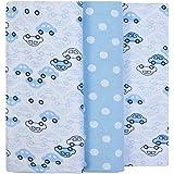 Cueiro Composê Estampado, Papi Textil, Azul, 80x50cm