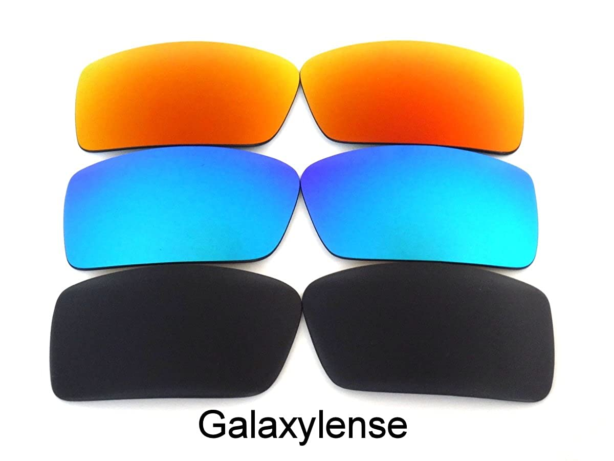 28d4a1bf0e Amazon.com  Replacement Lenses For Oakley Gascan Small Polarized Black    Blue   Red  Clothing