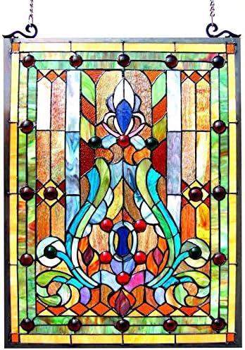 Chloe Lighting Chloe Tiffany-Style Victorian Design Window Panel