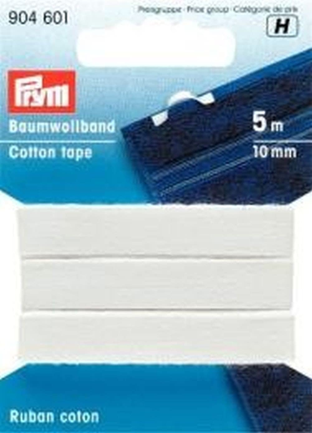 Prym Cinta algodón 10 mm Blanca: Amazon.es: Hogar