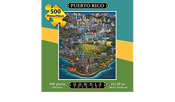 Jigsaw Puzzle - Puerto Rico 500 Pc By Dowdle Folk Art by Dowdle ...