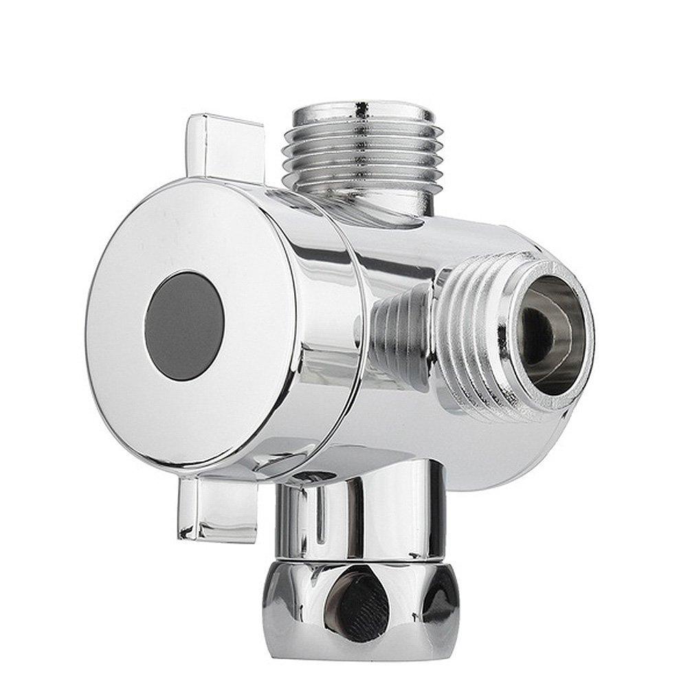 Woopower G1//5,1/cm de salle de bain 3/voies Vanne deau pour toilettes Bidet Pomme de douche Inverseur 3/voies de douche r/églable Inverseur